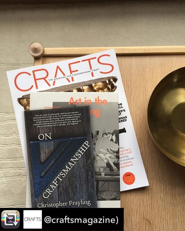 Repost from @craftsmagazine) using @RepostRegramApp - We're having another book club! Join us at @carlhansenandson's #Clerkenwell showroom for an evening with historian, writer and broadcaster Sir Christopher Frayling. ⠀ ⠀ The former rector at the Royal College of Art will be discussing his book of essays #OnCraftsmanship with our editor Grant Gibson. ⠀ ⠀ After the discussion there will be time for a signing session and a free drink or two, courtesy of The Five Points Brewing Co. ⠀ ⠀ Wednesday 29 March, doors at 6.45pm for 7pm start. Admission free (but strictly limited). Ticket link in bio.⠀ ⠀ #CraftsBookClub #craftreading #craftsmanship #making