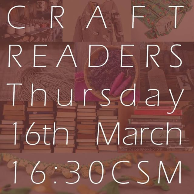 Join us this afternoon @UAL Research Fortnight for a lively debate about making, technology, heritage & resistance. Craft Readers will be sharing their research questions, images and obsessions! #csm #research #researchfortnight #craft #craftresearch #ual #phd