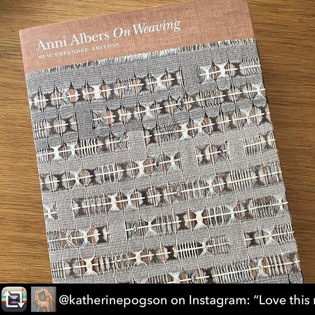 "Great to hear #Katieschwab talk about her inspiration from #Annialbers  at #materialfutures #mf16 ##@plymouthcollegeofart  Repost from @katherinepogson on Instagram: ""Love this new expanded edition of Anni Albers' classic work 'On Weaving' from 1965, with new colour…"" using @RepostRegramApp - Love this new expanded edition of Anni Albers' classic work 'On Weaving' from 1965, with new colour pictures and commentary. Chapter on Tactile Sensibility so relevant to craft today.  #craft #textiles #makermovement #annialbers #onweaving #weaving #tactile #texture"