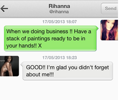 Whatttt?! How can I forget about RIHANNA? So yes i'm still loving life, that rih is still loving my art!