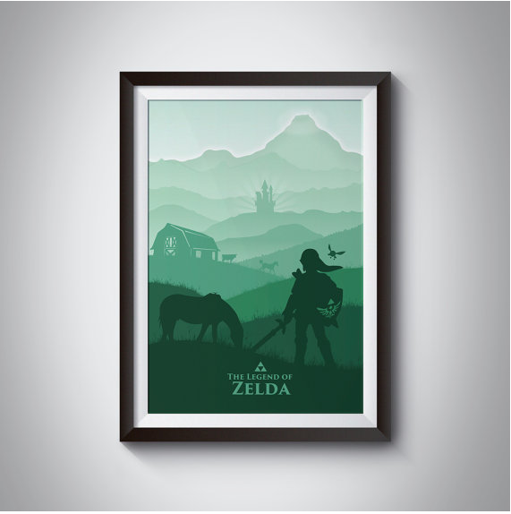 The Legend of Zelda: Hyrule Field inspired video game Poster £13.42