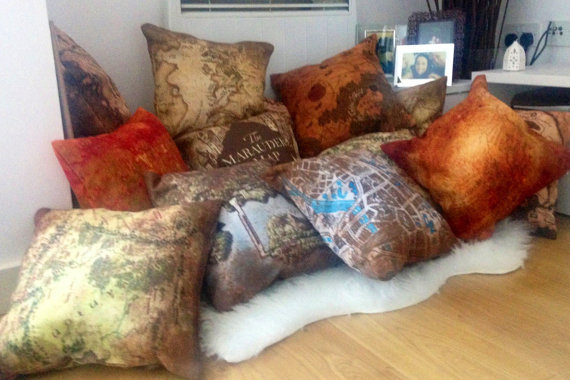 Fantasy Map Cushions: Skyrim, Lord of the Rings Pillows & More! 20.66