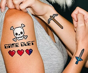 8-Bit Temporary Tattoos £2.94