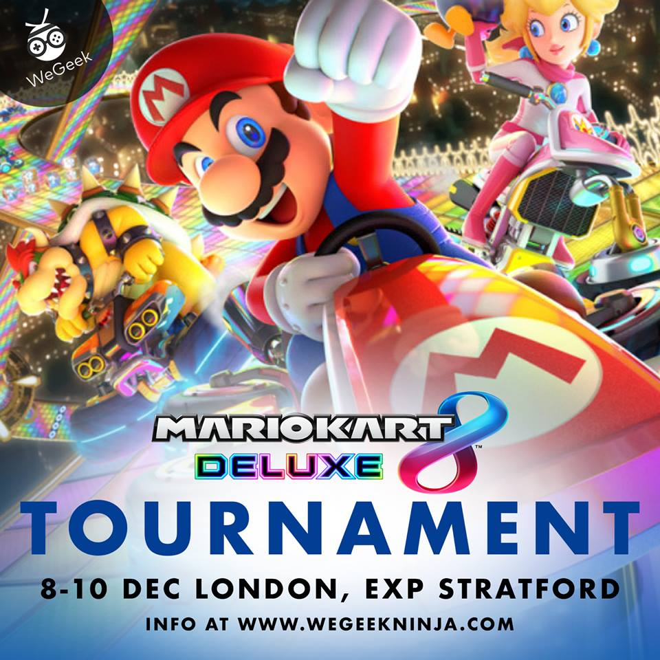 Jump into the driver's seat to test your Rainbow Road skills against others at our Mario Kart 8 Tournament.