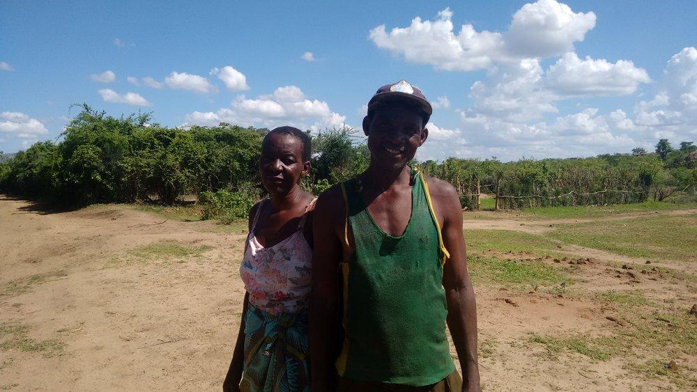 Mavis Bandeira and her son, Alec Bandeira, in Nyamapanda, Zimbabwe.