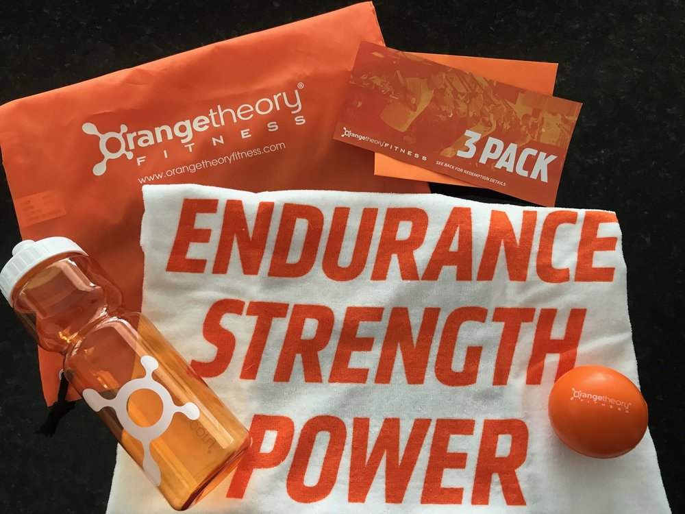 ORANGETHEORY 3-PACK & GIFT BAG   Orangetheory's fitness instructors provide inspiration and guidance through your workout and bring results based on your needs. Try it out with this 3-pack voucher good for a total of 3 workouts at the same studio, workout towel, water bottle, and stress ball all in a drawstring bag.  DONOR: Orangetheory VALUE: $150