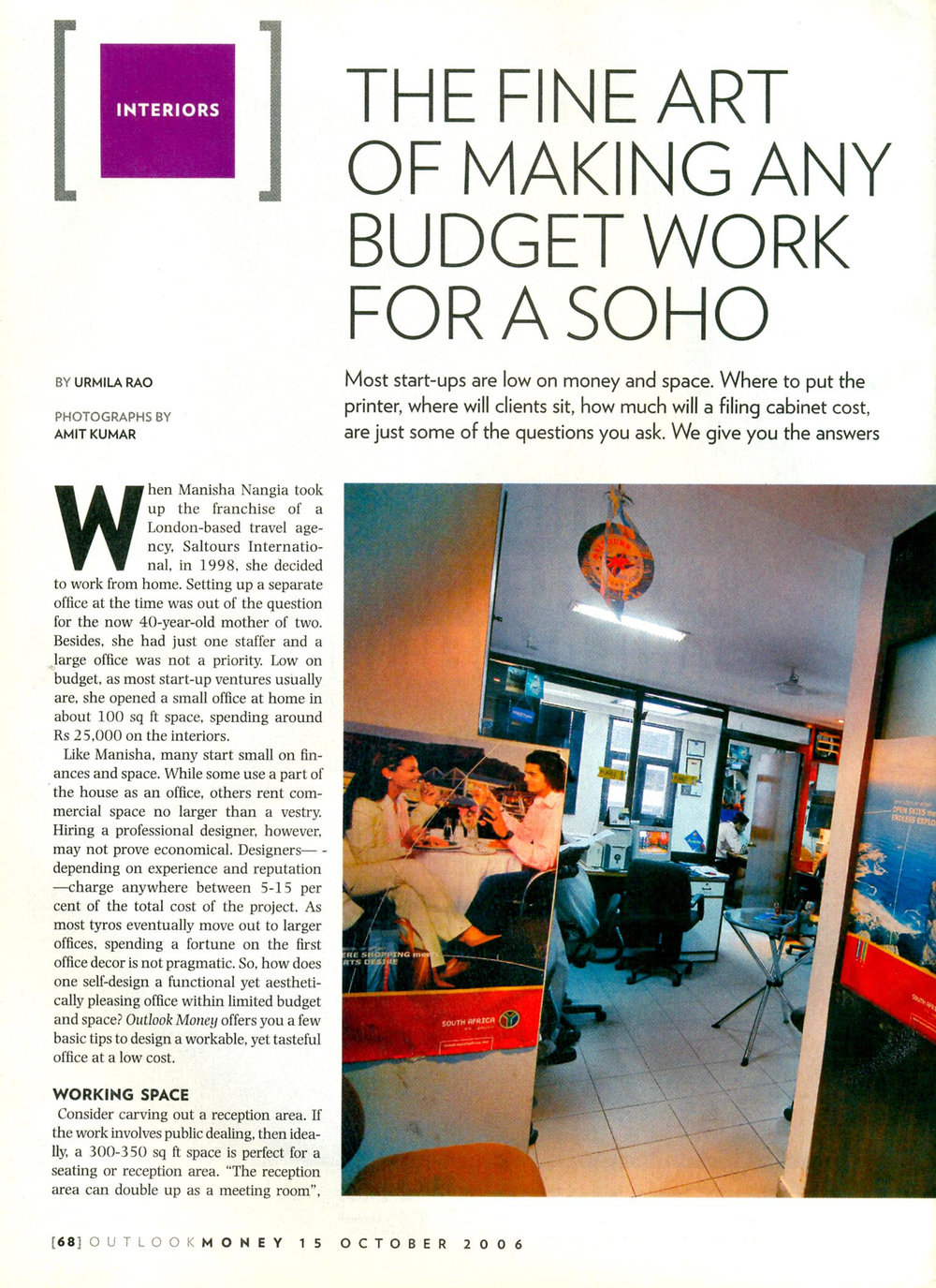 Outlook Money October 2006 p1
