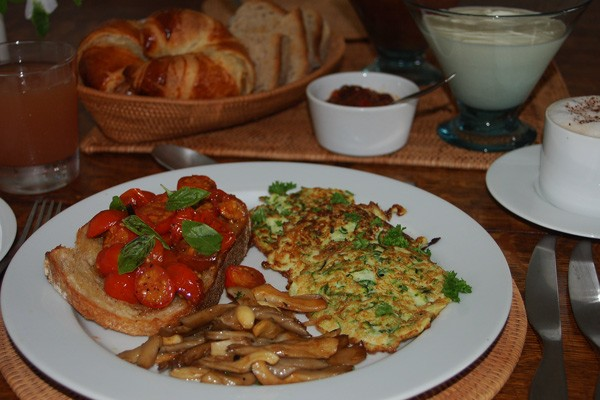 Award winning breakfast at Jericho bed and breakfast