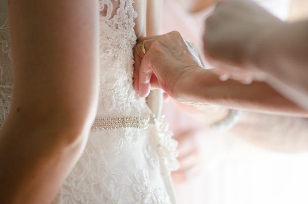 Wedding dress detail at Crosswinds golf club by Sounds Like Yellow Photography, Toronto Wedding Photographer, soundslikeyellowphotography.com