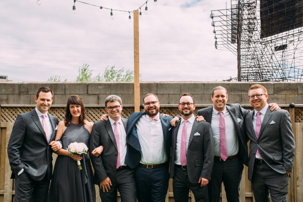 Groomsmen Photography Toronto Wedding at Airship 37 with Soundslikeyellowphotography