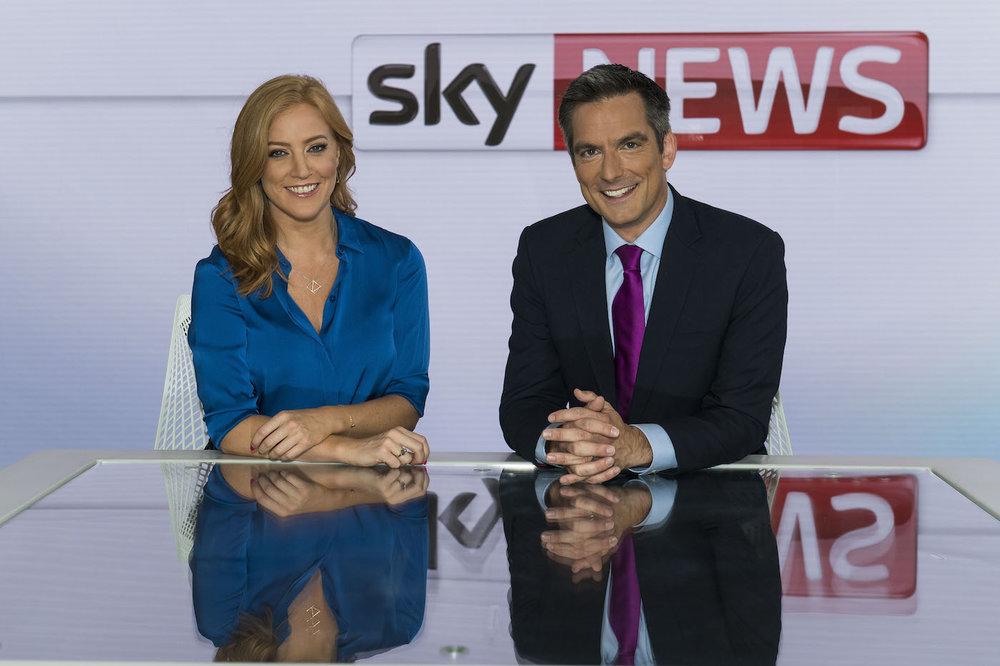 Sunrise presenters Sarah-Jane Mee and Jonathan Samuels