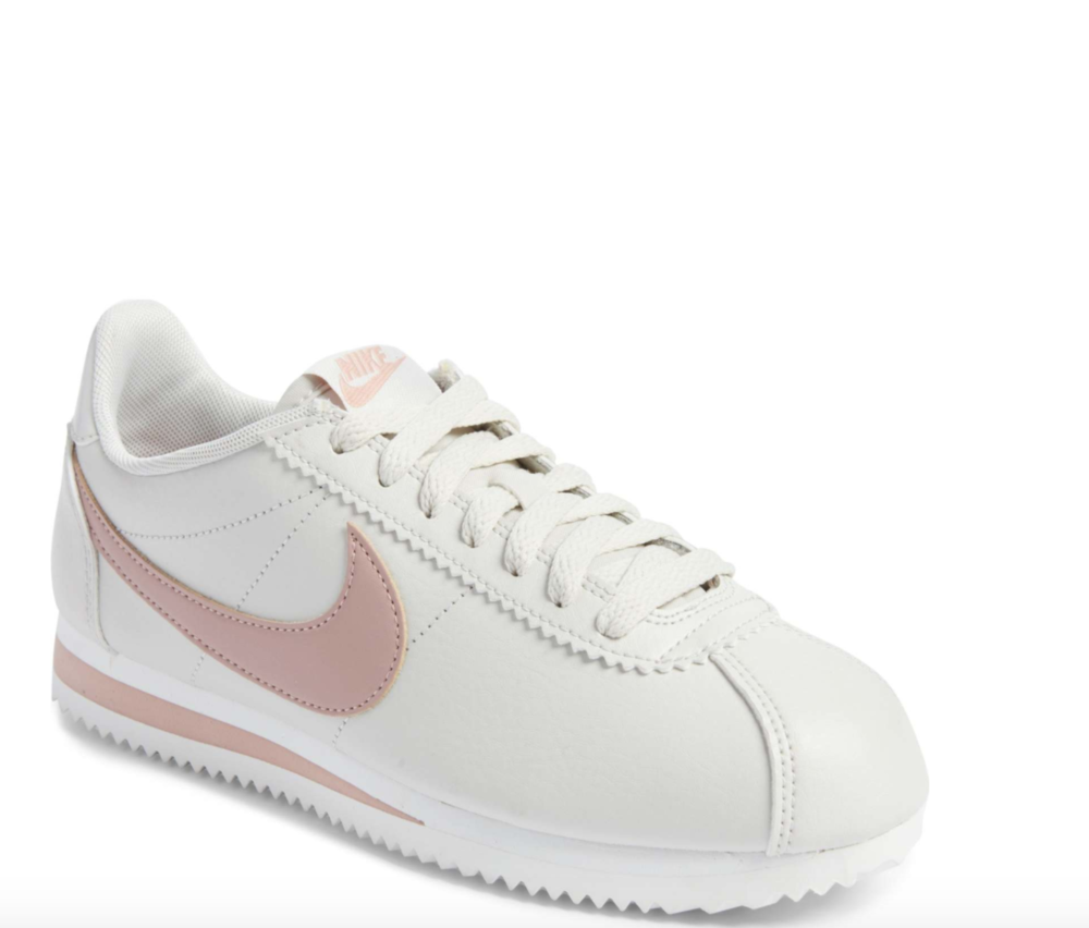 Nike Classic Cortez Sneaker - There's nothing better for a long travel day or sightseeing than a pair of stylish sneakers. Initially launched as a track shoe in the early '70s, Nike's 'Cortez' sneakers are loved for their comfortable design and retro shape. To buy: Net-A-Porter, $70