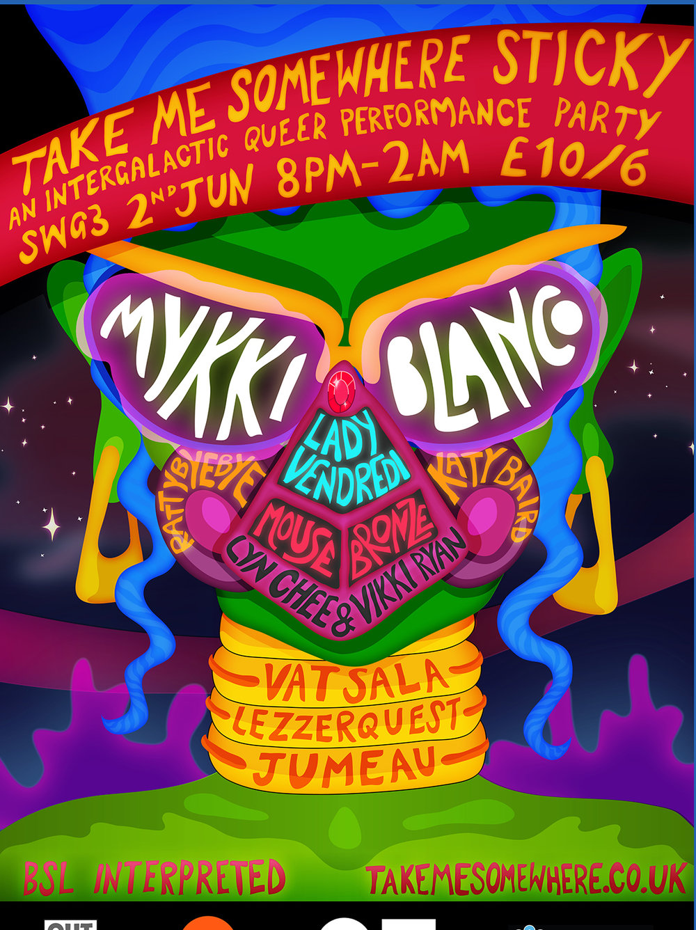 FESTIVAL CLOSING PARTY:  TAKE ME SOMEWHERE STICKY  Sat 2 June // SWG3