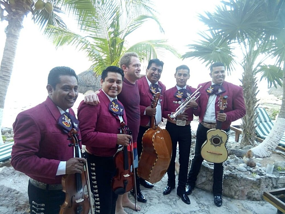 Mariachi Tulum plays at a Villa in Akumal