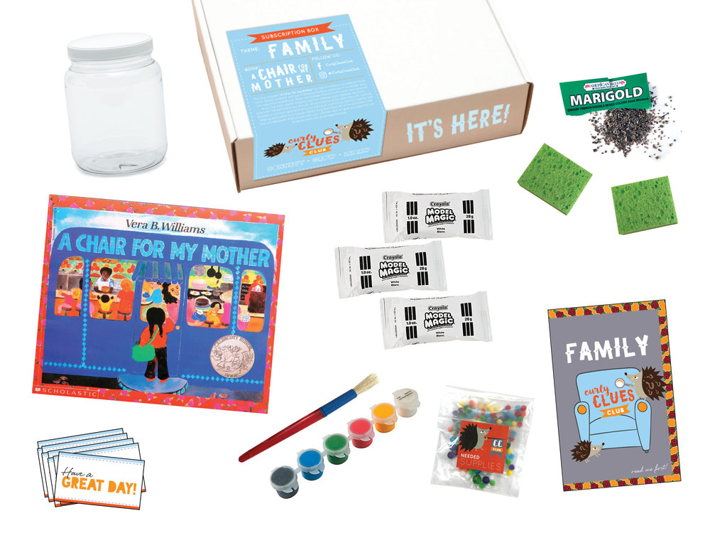 Family Curly Clues Club Box
