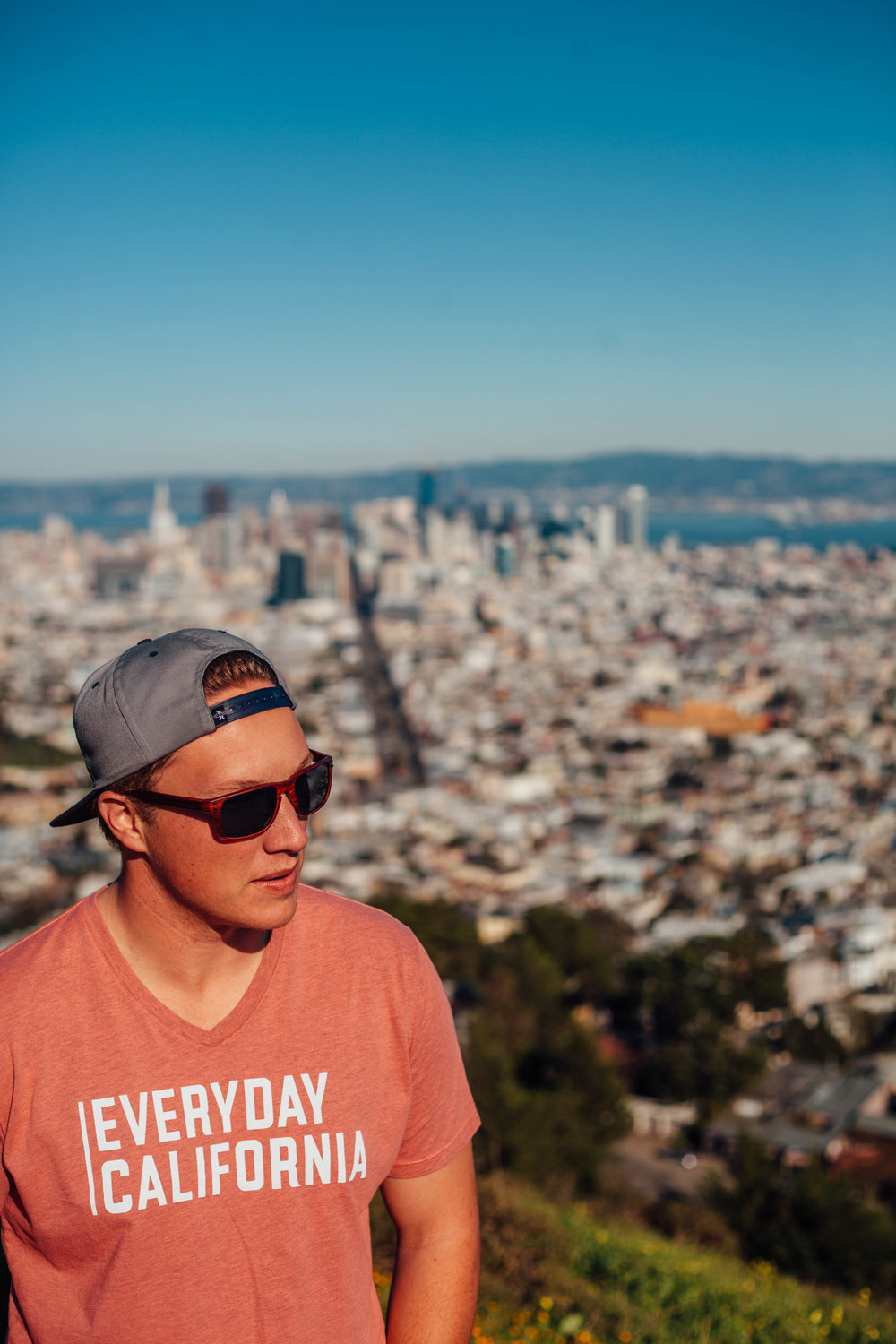 This is a picture of Tanner ruining a perfectly good picture of Downtown SF