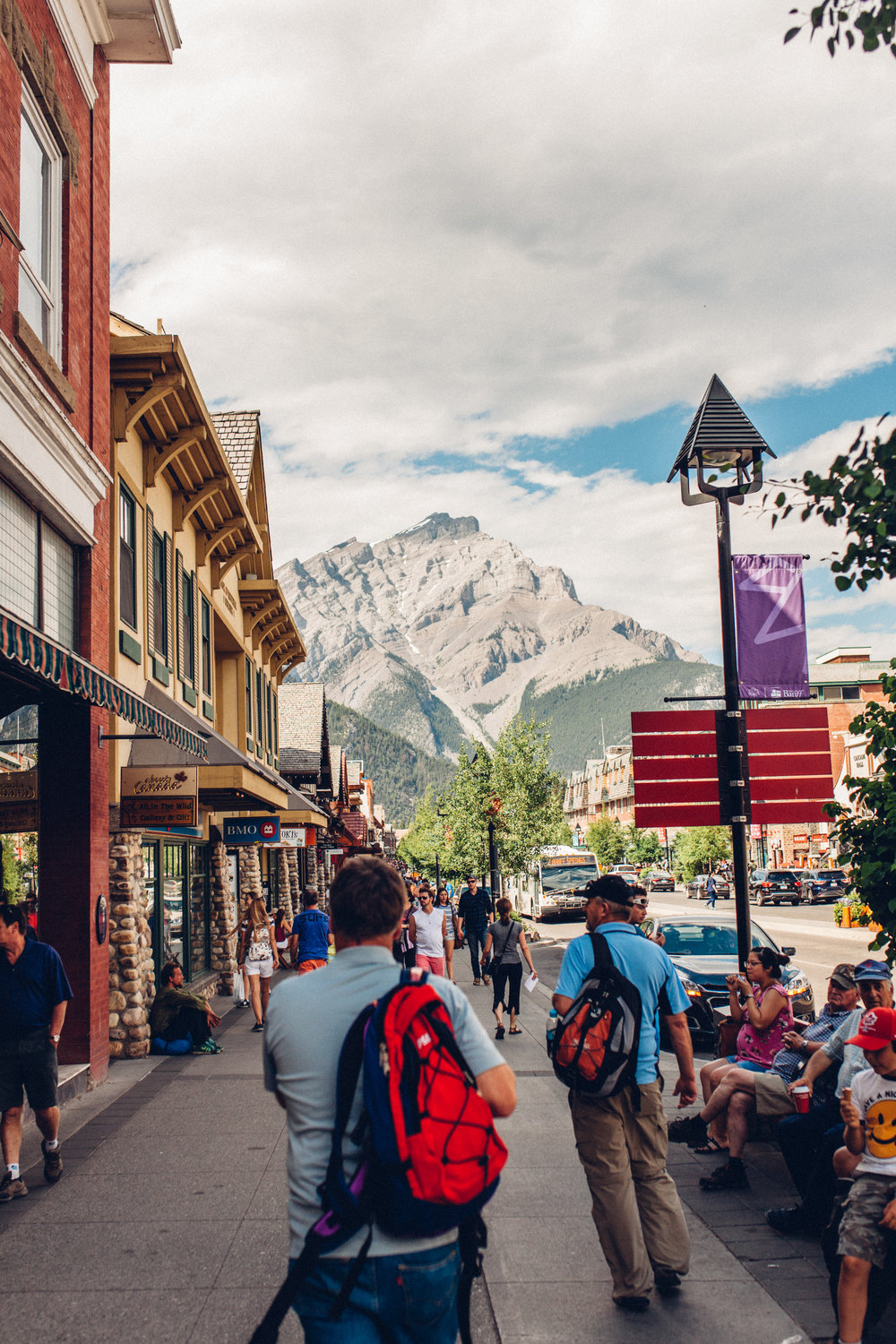 Downtown Banff, home to a Billabong store, a zoo, and a pissed off laundromat lady who really needs to calm down it was just one bag of clothes.