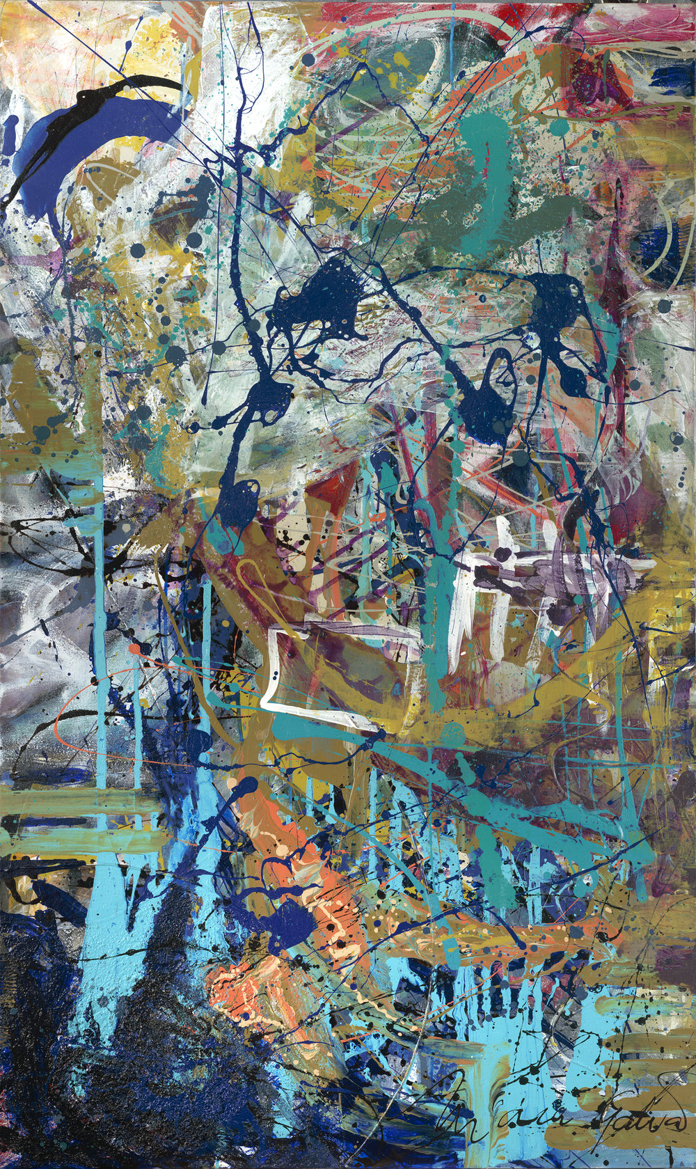 Here With Your Majesty -36x60 in