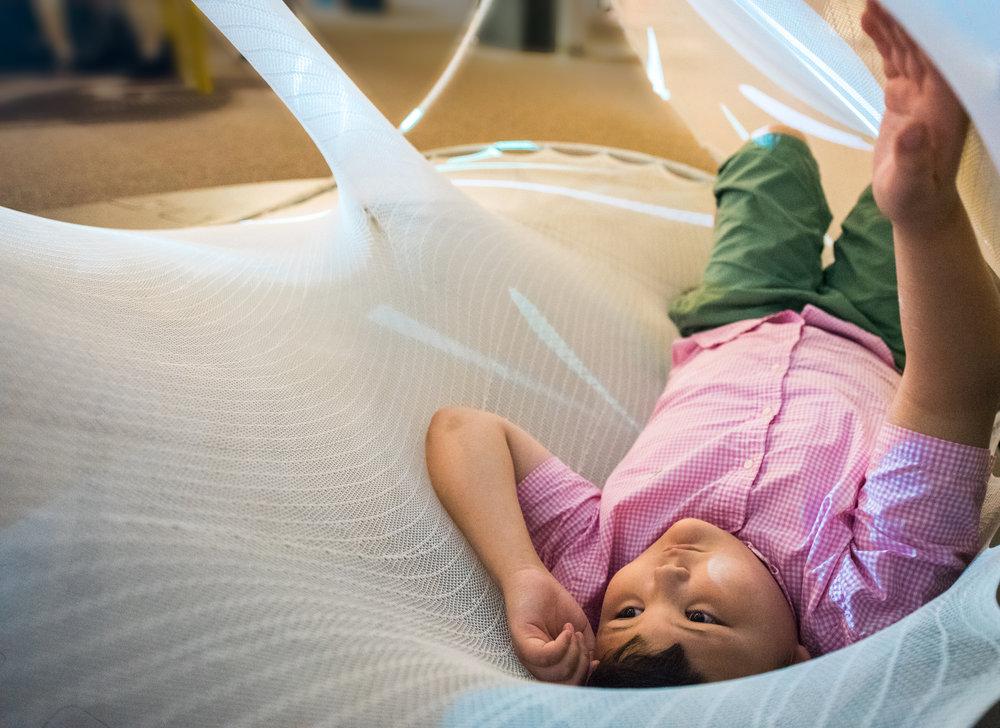 sensoryPLAYSCAPE   stretchSWARM at HandsOn Museum