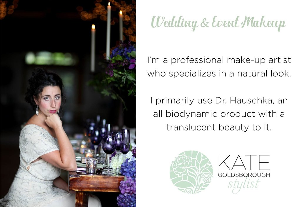 Nutmeg Media Kate Goldsborough Stylist Wedding Makeup Post Cards
