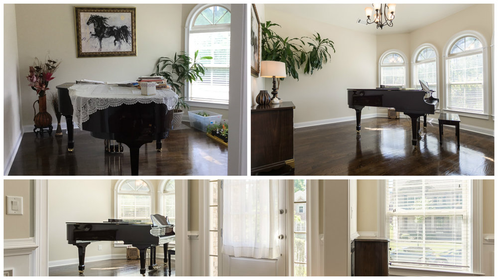 Piano Room Before & After