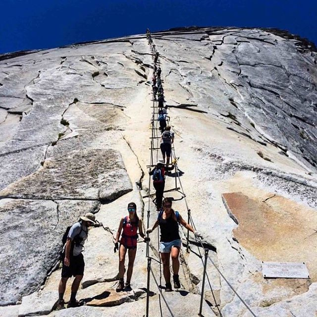 If you'd like to hike the Half Dome cables this year make sure to get your applications in for the lottery by March 31st! Visit our Half Dome blog post for all the details you need to prepare for this exhilarating hike. 🔝#halfdome #halfdomecables #yosemite #firtop #firtophikes #makeittothetop #happyhiking