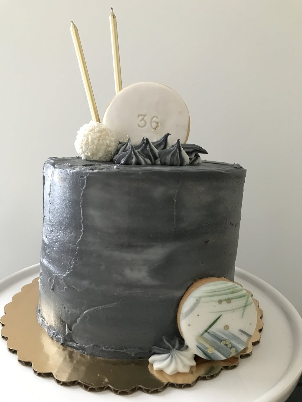 Classic GlamCake With Cookie Cake Topper And Decor Flavor Marbled Vanilla Chocolate