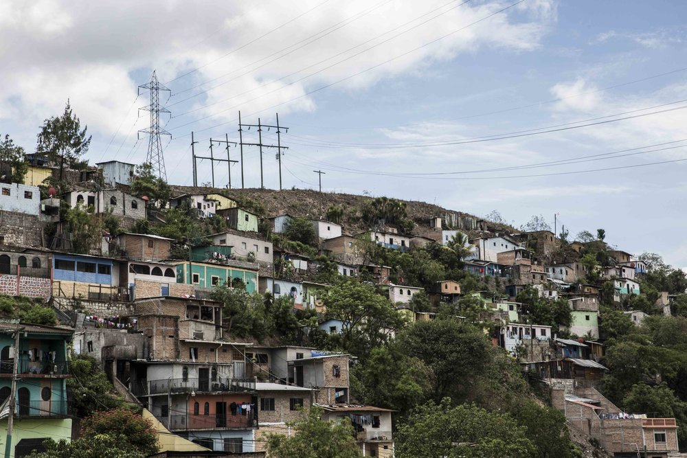 Suyapa, one of the most dangerous neighborhoods of the capital Tegucigalpa.