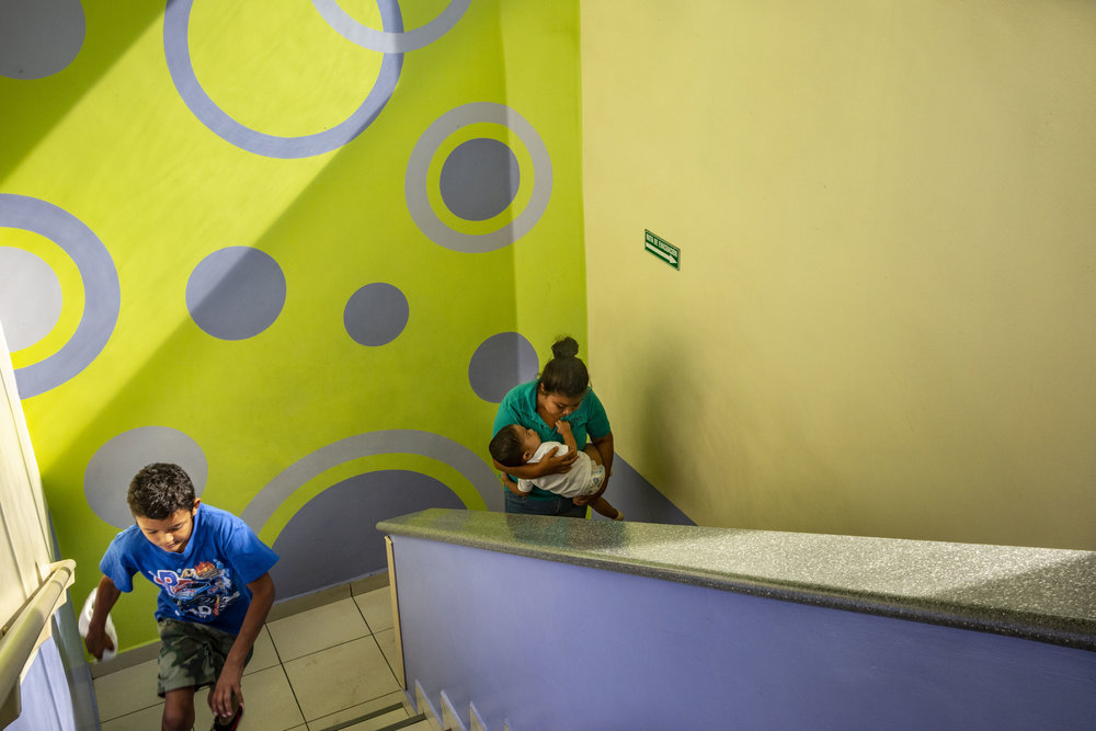 People inside the Ruth Paz hospital in San Pedro Sula.