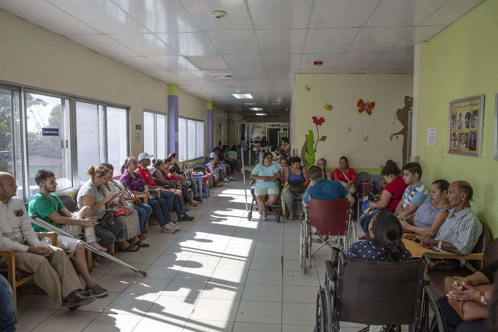 Fridays are a pretty busy day at Ruth Paz hospital in San Pedro Sula, because there is various doctors available for check ups and primary care visits.