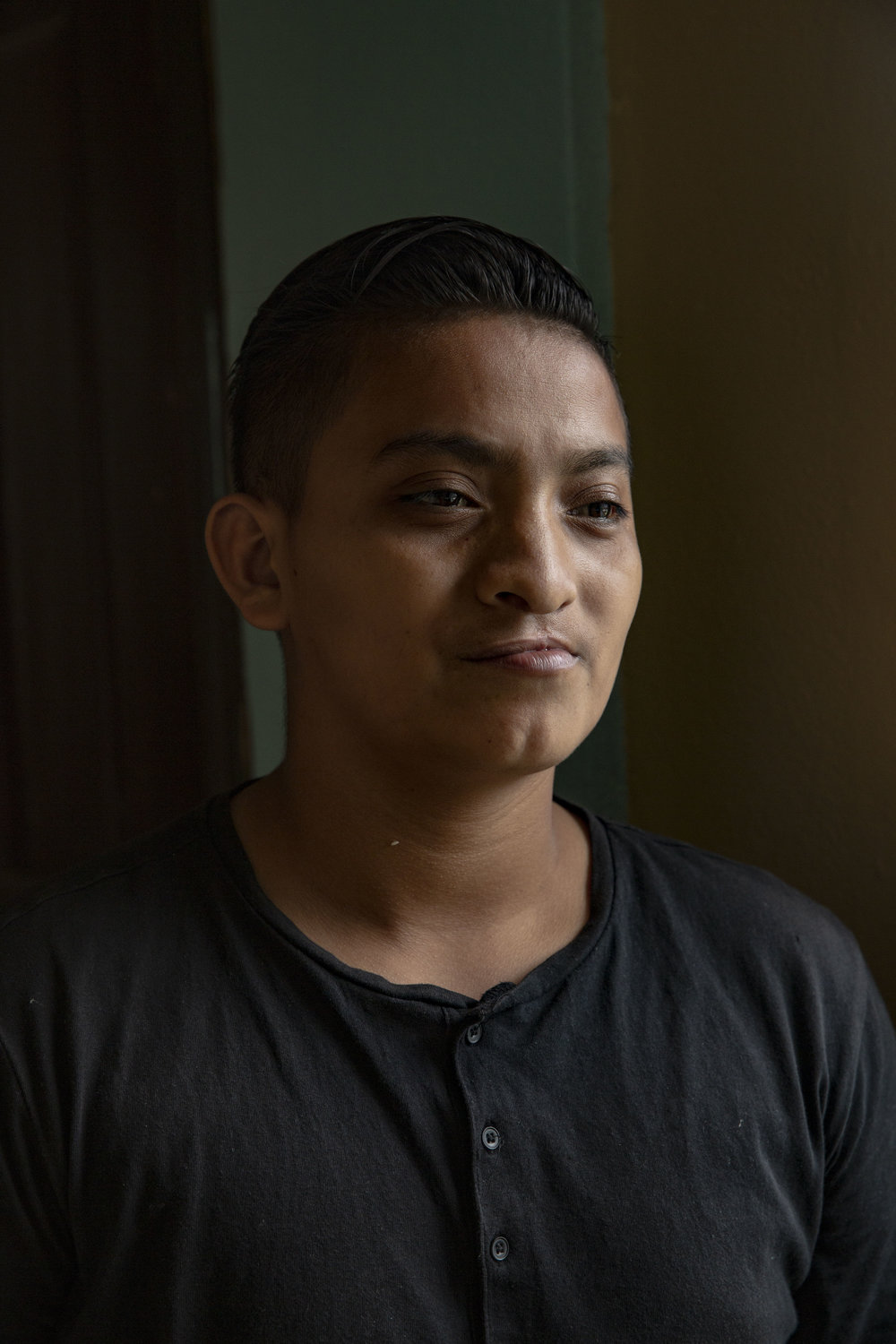 "Ronnie Martinez Reyes, 21, operated four times for cleft lip and palate at the Ruth Paz Clinic in San Pedro Sula. He took the initiative to undertake the surgery. ""Now I can breath normally and eat well"", he says."