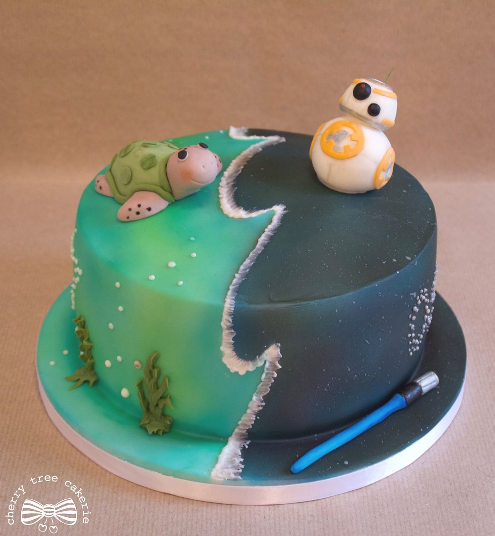 turtle-and-star-wars-cake