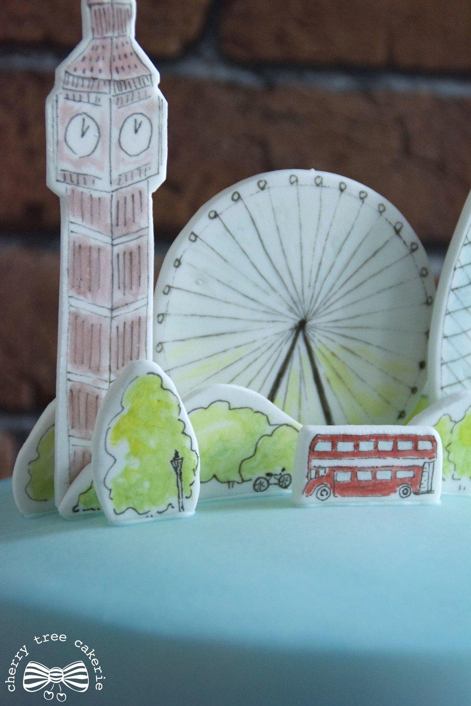 London-city-scape-watercolour-birthday-cake