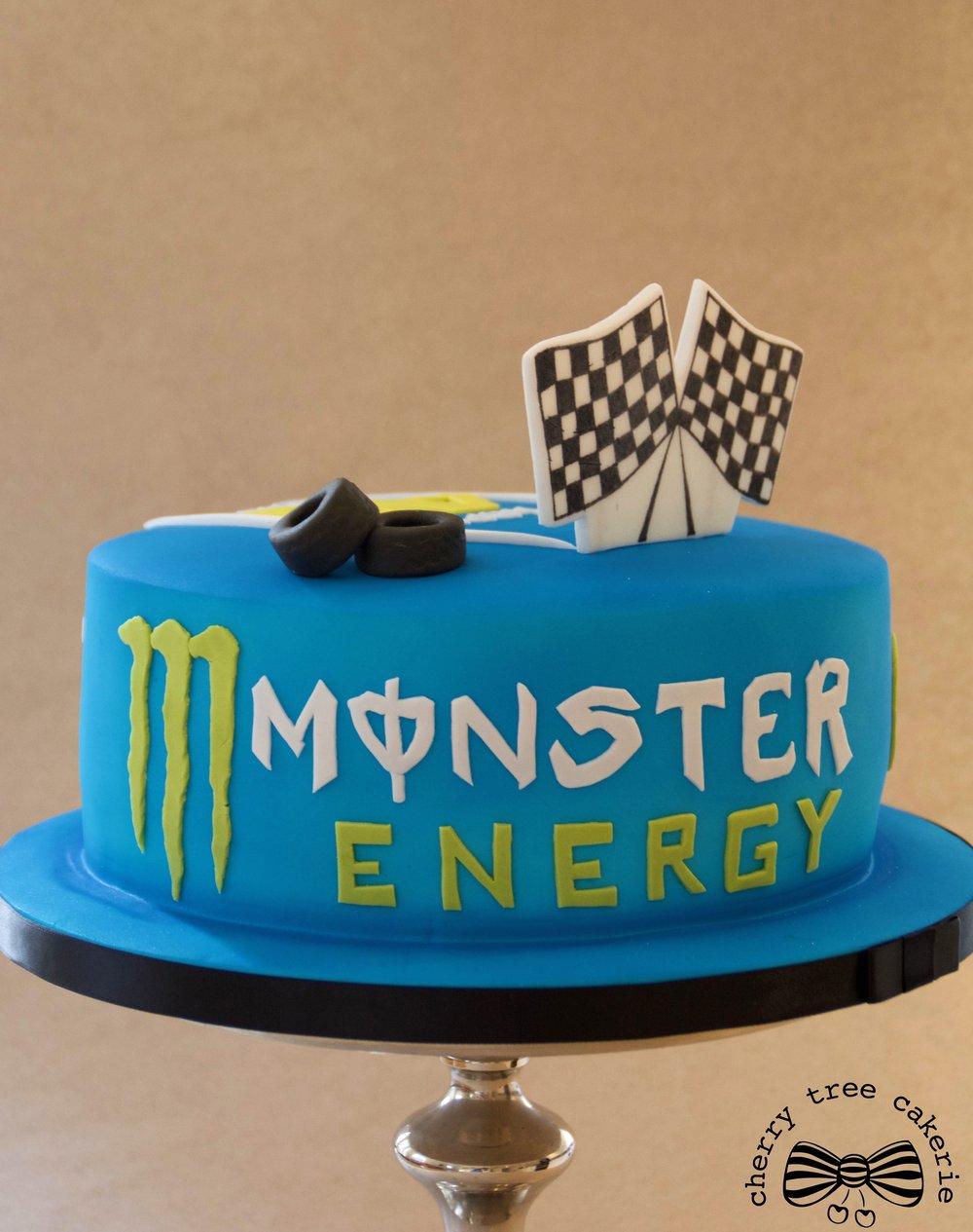 Motorcycle-sport-themed-birthday-cake-monster-energy
