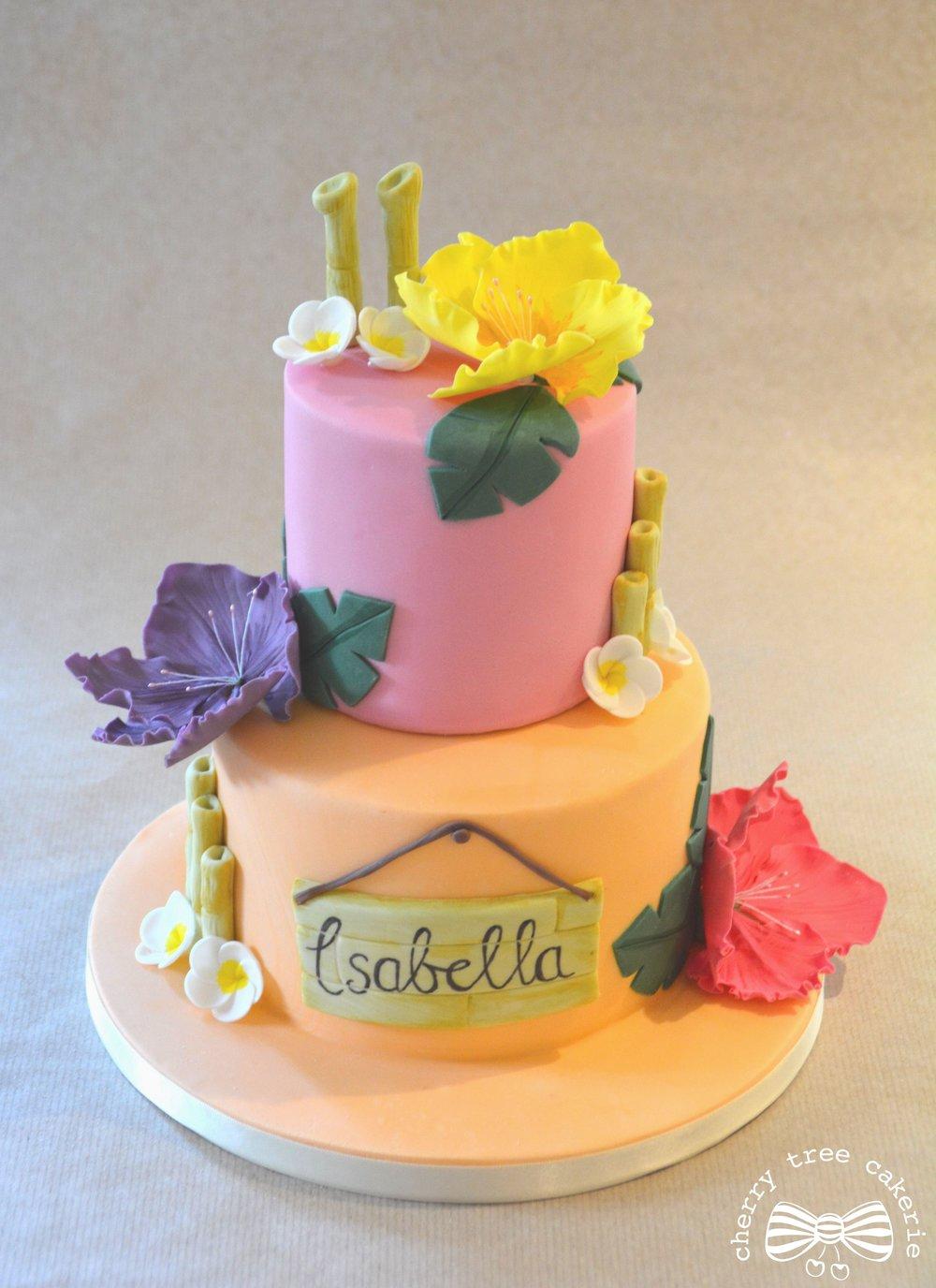 Hawaiian-tropical-birthday-cake
