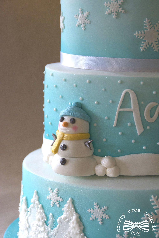 winter-wonderland-snowman-birthday-cake