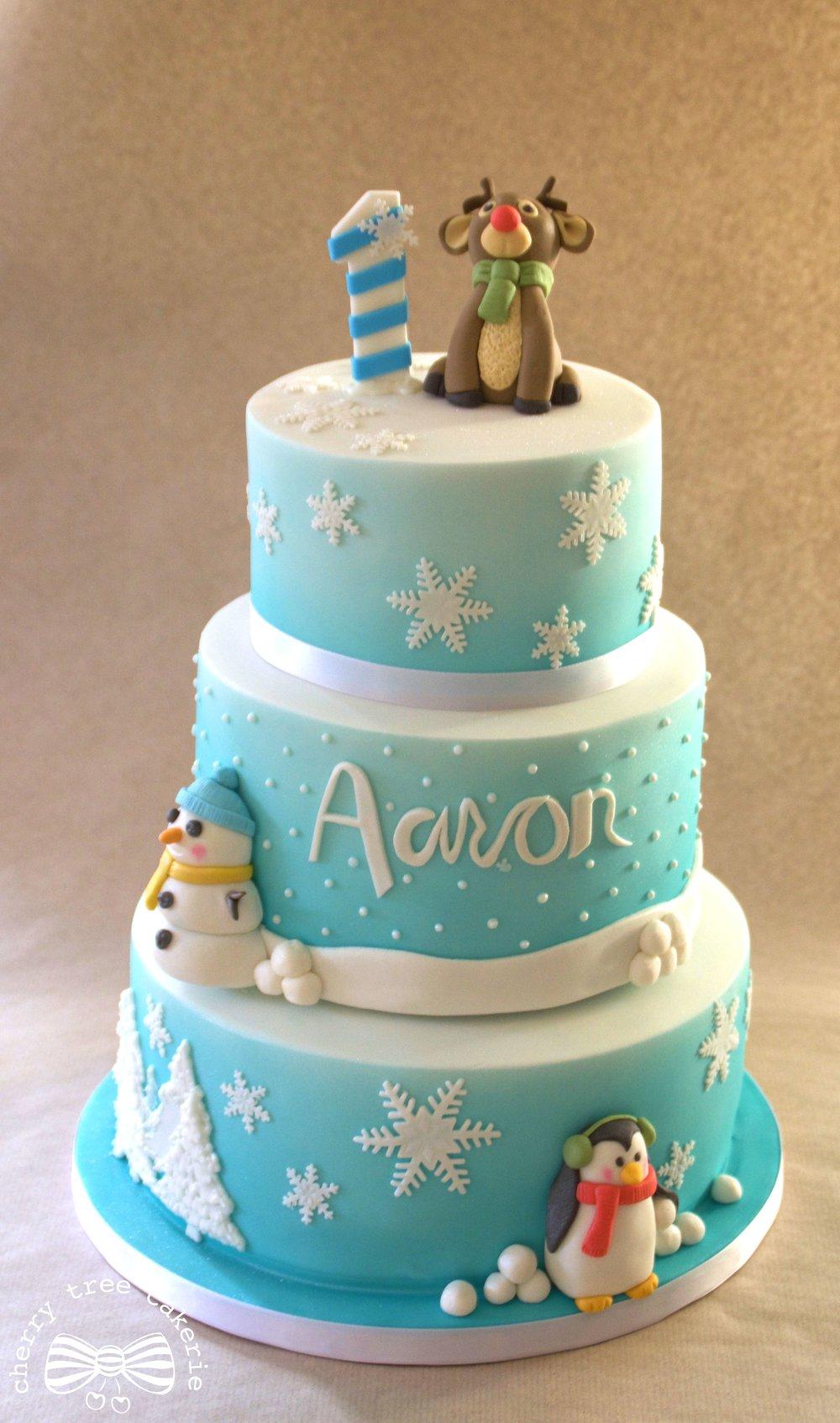 winter-wonderland-tiered-birthday-cake