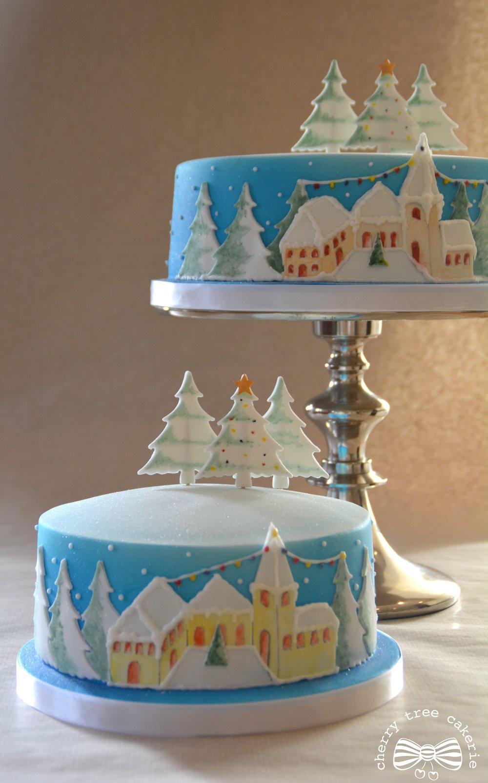 scandinavian-christmas-scene-cake