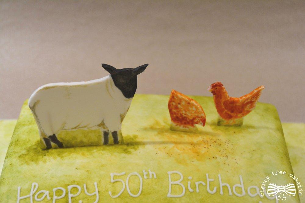 watercolour-farm-animal-birthday-cake
