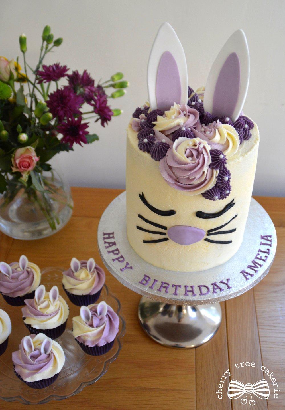 lilac-buttercream-bunny-rabbit-cake