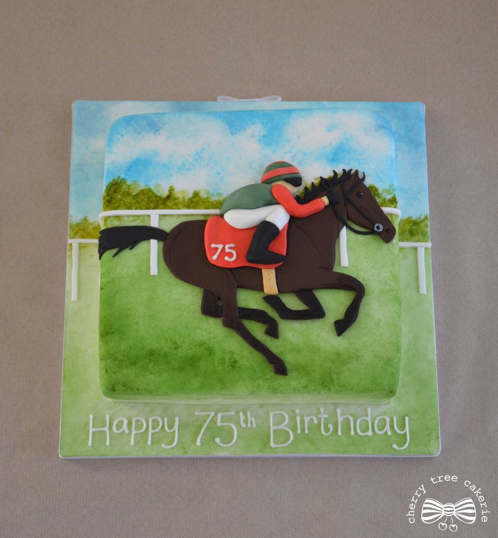 racing-horse-watercolour-birthday-cake