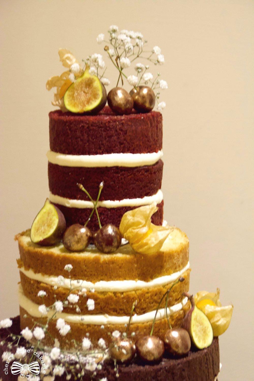 Rustic-naked-wedding-cake-red-velvet
