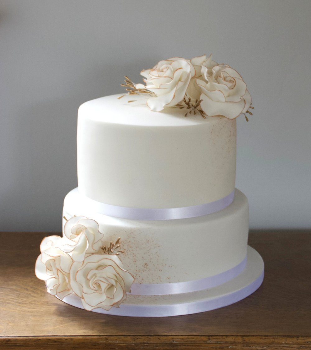 The amazing Charlene did our wedding cake and I cannot tell you how beautiful and gorgeous our cake was, it genuinely took my breath away when I saw it. I cannot recommend Cherry Tree Cakerie enough, you will not be disappointed, our guests were hunting out more cake on the day! - Donna & Adam Stimpson, Milling Barn, April 2018