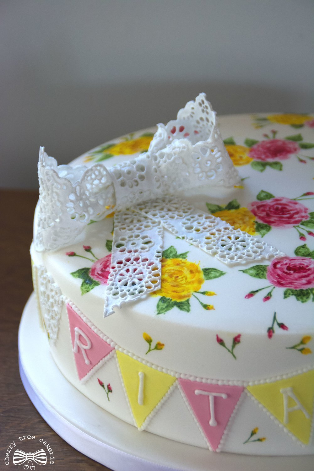 Rose and Lace Christening cake.jpg