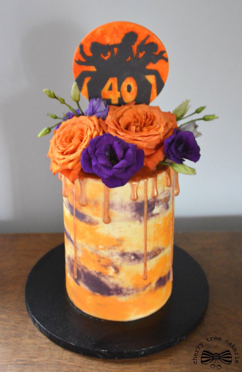 Charlies Angels buttercream cake.jpg
