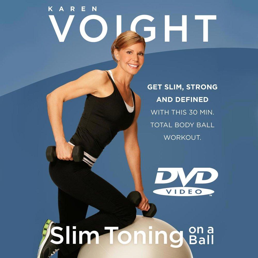 slim toning on a ball dvd karen voight fitness