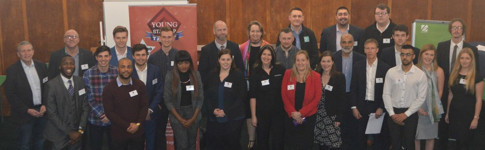 Sponsors and finalists at the Brighton speed networking event