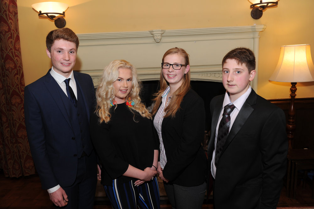 Chichester finalists - left to right - Tom Orchard, Hannah Weir, Leanne Robertson and Charles Taylor)