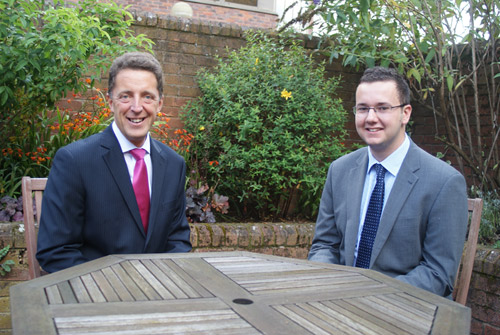 Matthew Tyson from Richard Place Dobson and Young Start-Up Talent Finalist George Fisher.