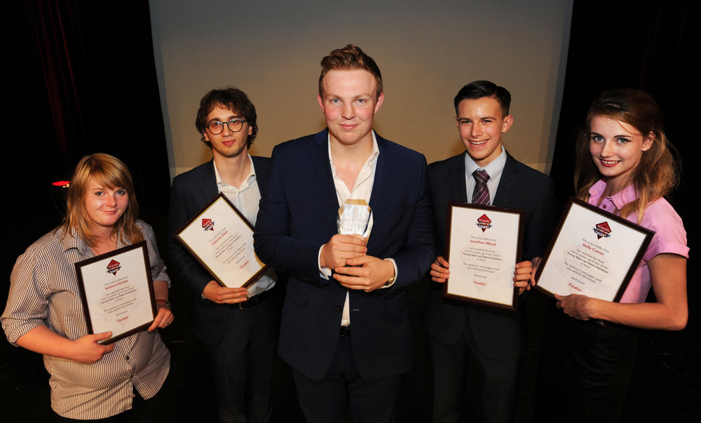Winner and finalists of YST Kent 2016 – (left to right – Serena Christie, Edoardo Abati, Ben Jeffries, Jonathan Wood and Kelly Culver)